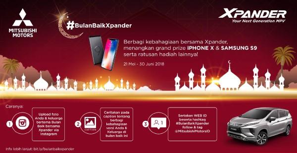Menangkan Iphone X dengan Mengikuti Kompetisi Foto #BulanBaikXpander