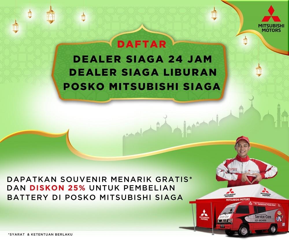 Daftar Posko SIAGA dan Bengkel Siaga 24 Jam Mitsubishi Pada Lebaran 2018