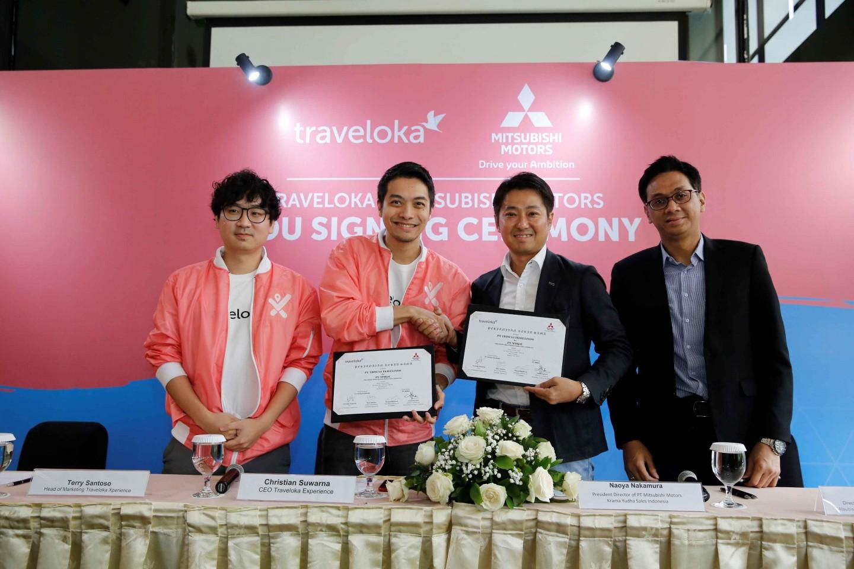 Traveloka Xperience Tandatangani Kesepakatan Kerja Sama Strategis bersama Mitsubishi Motors Indonesia Guna Memperkaya Pengalaman Pengguna