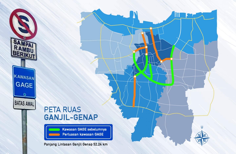 Kenali Jalan-Jalan di Jakarta yang Kena Perluasan Ganjil Genap
