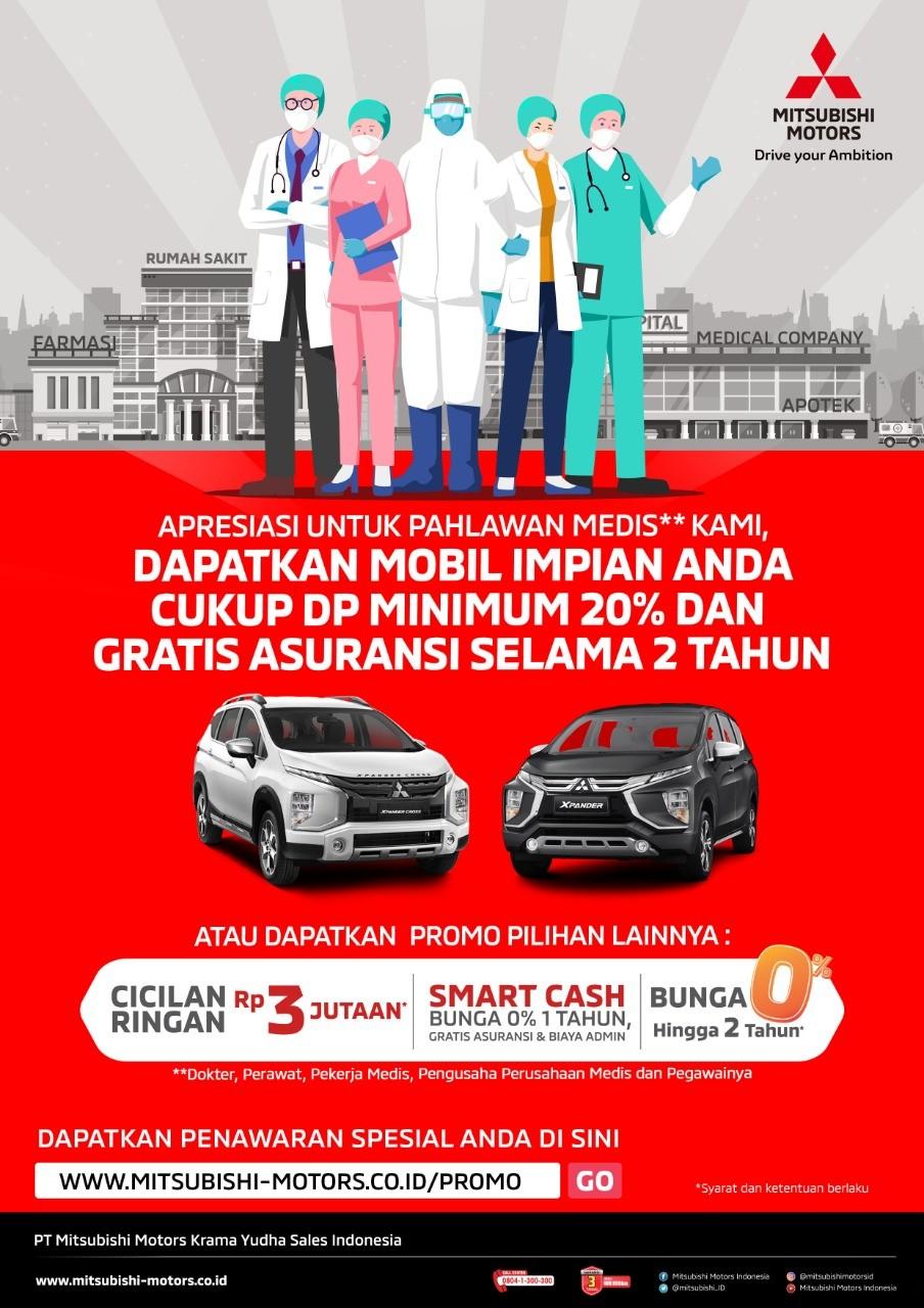 Apresiasi Pahlawan Medis, MMKSI Berikan Kemudahan Kepemilikan dan Asuransi Kendaraan Mitsubishi Motors
