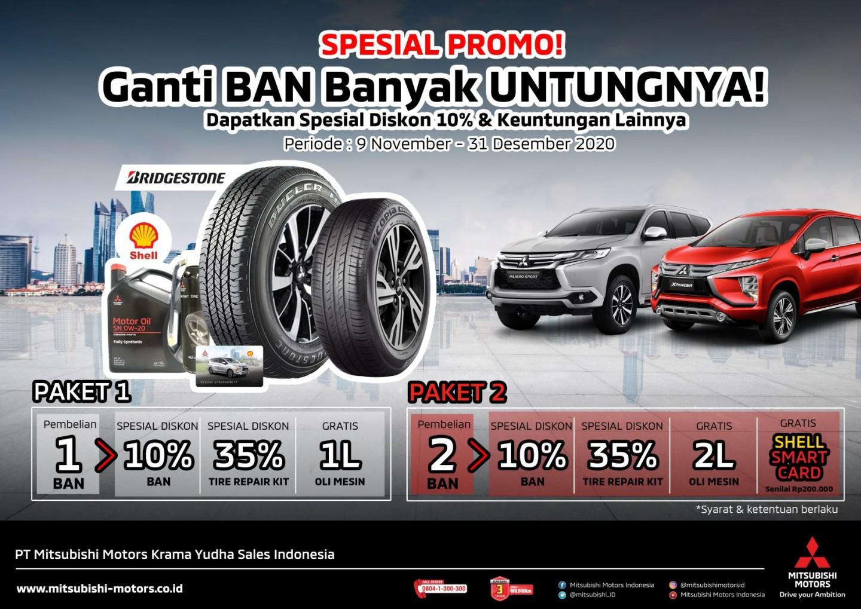 Permudah Konsumen Mendapatkan Layanan Purnajual Khas Mitsubishi ONE, MMKSI Selenggarakan Tire Campaign