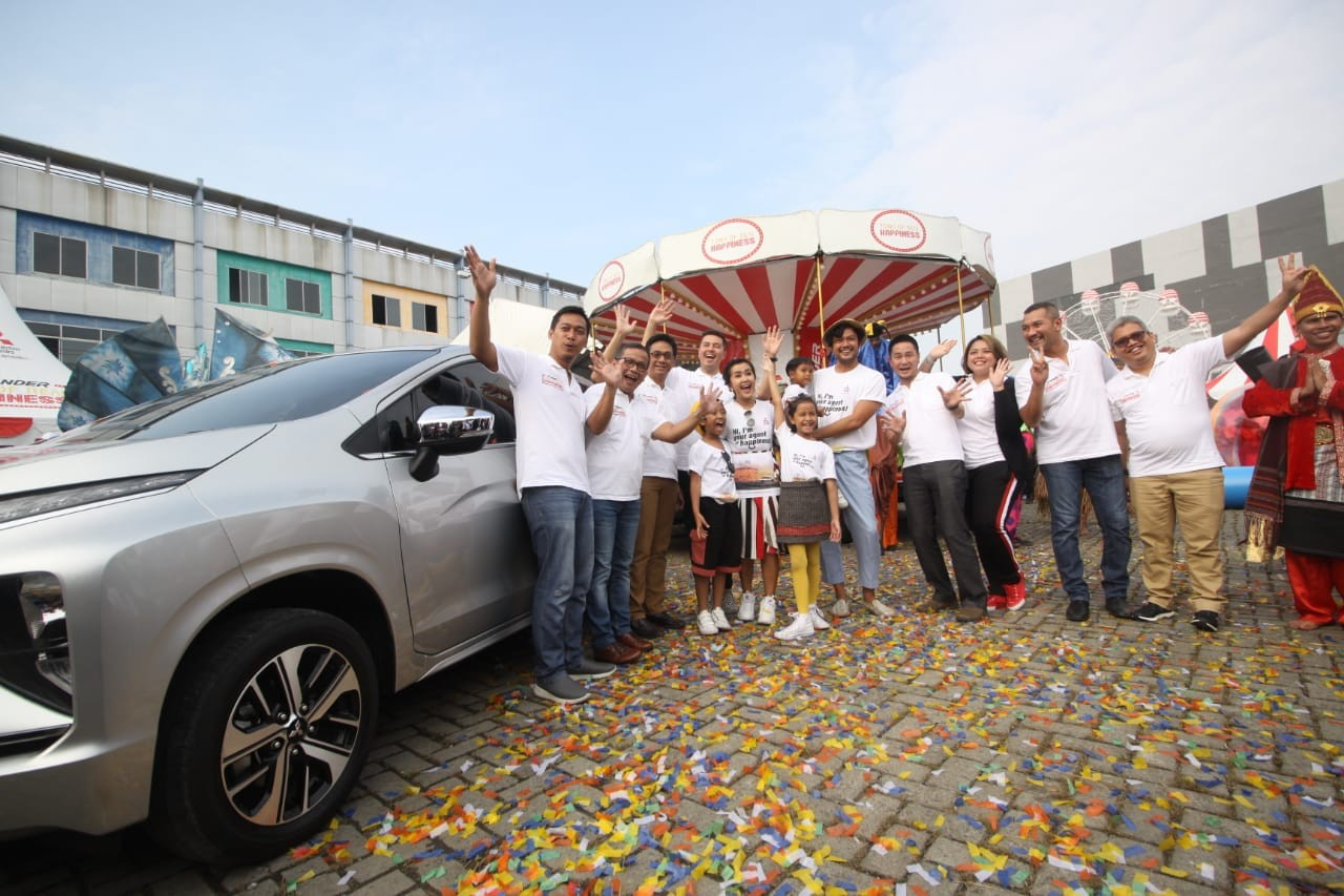 Mitsubishi XPANDER Tons of Real Happiness Hadir di Kota Medan