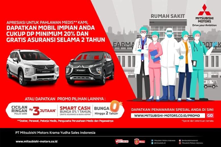 Program Penjualan Spesial dari Mitsubishi Motors untuk Pahlawan Medis Indonesia