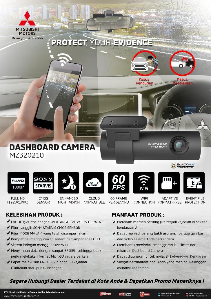 Dukung Kenyamanan Berkendara Konsumen, MMKSI Luncurkan Genuine Accessory Dashboard Camera