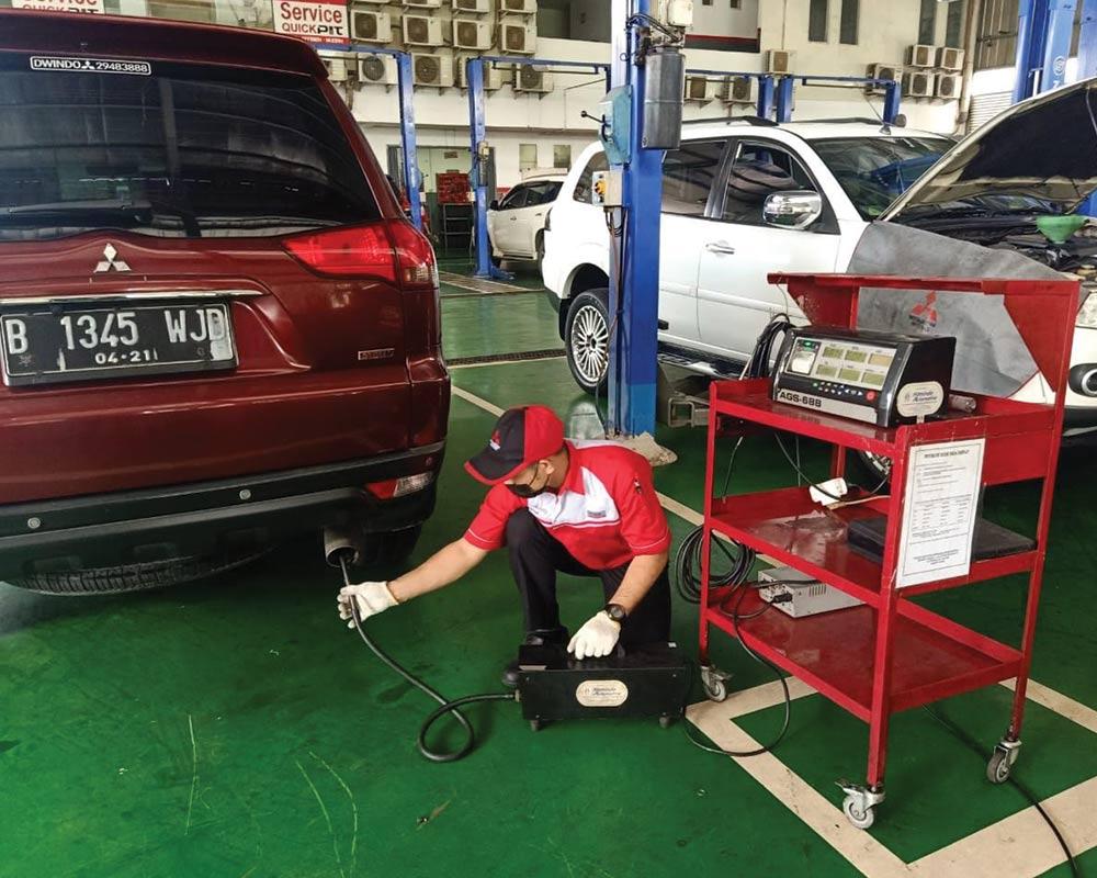 Dukung Program Pemerintah, Layanan Uji Emisi Tersedia di Bengkel Resmi Mitsubishi Motors