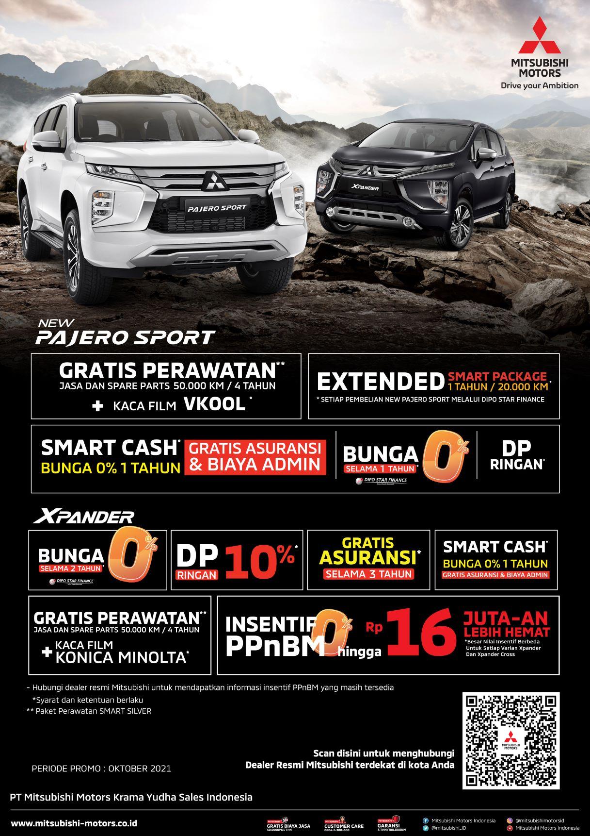 Benefit Pembelian Kendaraan Mitsubishi Motors di Bulan Oktober 2021