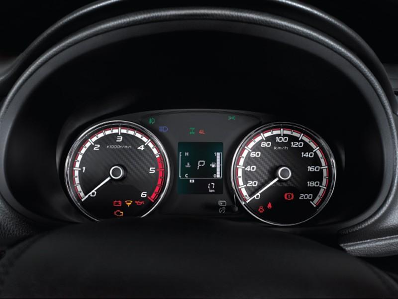 Speedometer Sporty dengan sentuhan Karbon dan Krom