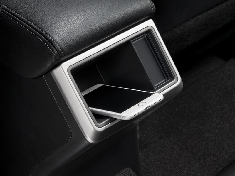 Smartphone Tray for rear seat passenger