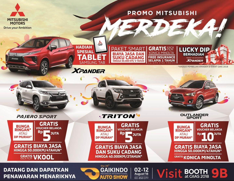 Promo Mitsubishi di GIIAS 2018